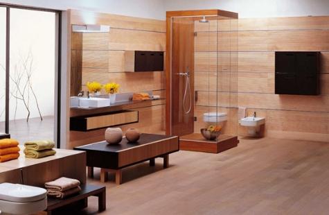 Decorar el cuarto de ba o en madera for Accesorios cuarto de bano madera