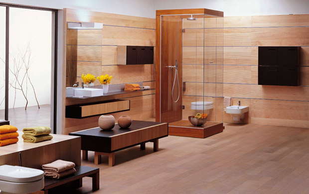 Decorar el baño con madera