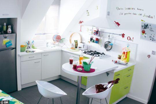 Para decorar una cocina pequeña