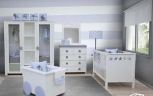 Decoración elegante de una habitación de bebé