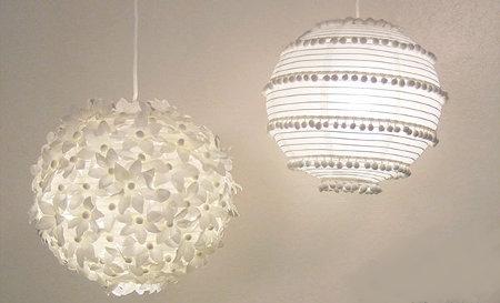 Lámparas de papel como opción decorativa