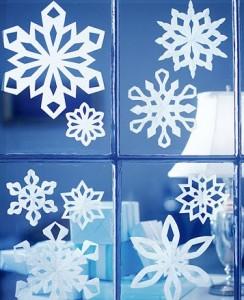 Decora las ventanas para la Navidad